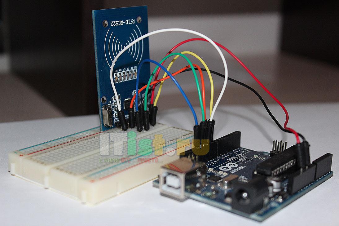 Как подключить rfid-RC522 к ардуино уно (arduino uno)